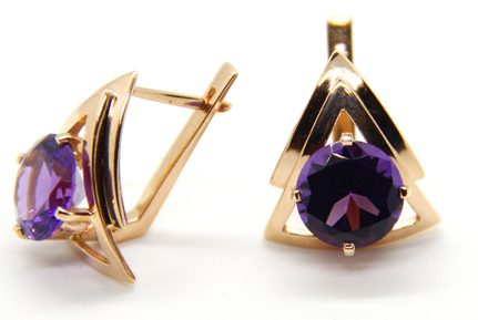01lombard earring purple