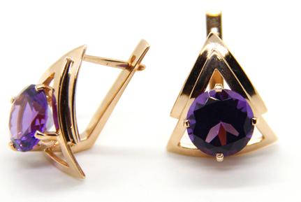 01lombard earring purple
